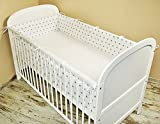 Cot bumper with Head Guard 420 x 30 cm, 360 x 30 cm, 180 x 30 cm Cot Bumper Baby Edge Protector Bedding MIX (A3)