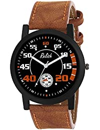 Relish RE-S8119BT Black Slim Analog Watches For Men's And Boy's