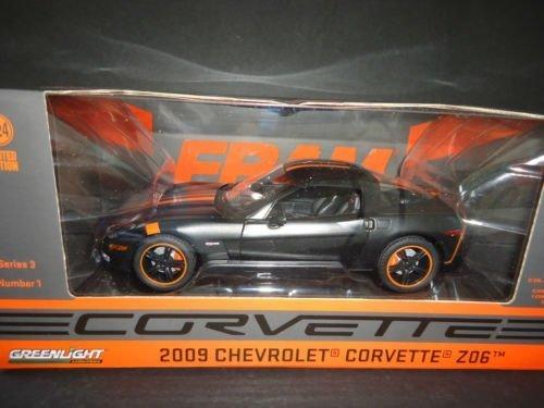 #50227 Green Light Fram 2009 Chevrolet Corvette Z06,Matte Black 1/24 scale Diecast Car by Green Light