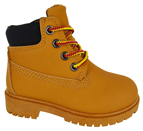 KIDS BOYS GIRLS LACE UP NEW INFANTS HIKING WINTER COMBAT ANKLE HI TOP BOOTS SIZE