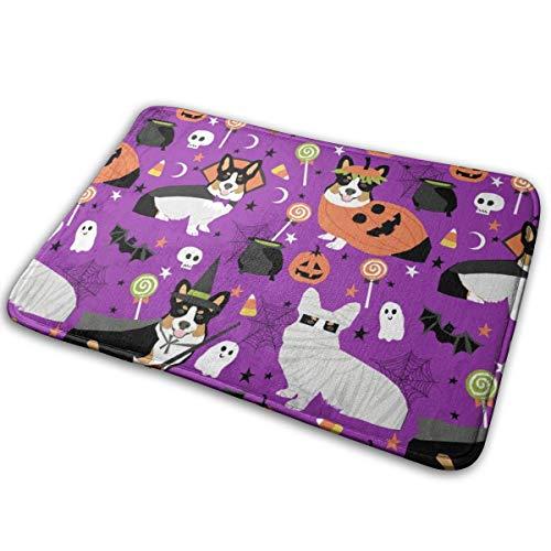 best pillow Tri-Colored Corgi Halloween Costumes Mummy Vampire Ghost Just Dog Purple_25321 Doormat Entrance Mat Floor Mat Rug Indoor/Outdoor/Front Door/Bathroom Mats Rubber Non Slip 23.6
