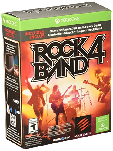 Rock Band 4 Bundle with Legacy Game Controller Adapter - Xbox One - Xbox Band Bundle Rock