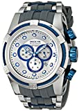 Reserve Bolt ZEUS Chronograph Gold Tone Stainless Steel Case Rubber Strap Silver Tone Dial