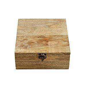 Rusticity Boîte à thé en bois/organiseur à épices avec couvercle–8slots | fait à la main | (8x 7,5dans)