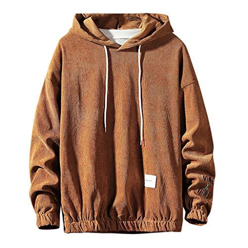 Solid Kapuzenpullover Herren für Pullover für Herren, Holeider Basic Kapuzen-Sweatshirt Herren Langarm Herbst Winter Hoodie Einfarbig Mode Casual Streetwear Große Größen -