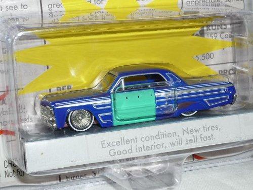 Jada Chevrolet Chevy Impala 1964 Coupe Blau for Sale Scheunenfund Edition Oldtimer 1/60 1/64 Modellauto Modell Auto - Auto Impala Modell Chevy