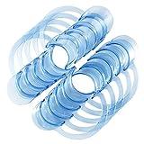 ROSENICE Mundöffner 20 Stücke Dental C-form Typ Klar Wangenhalter Mund Lippenöffner für Home Dentistry Usage (Blau)
