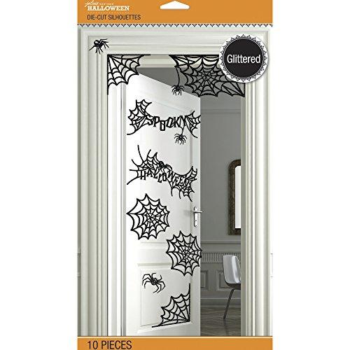 Jolee's Halloween Die-Cut Silhouettes Wall Decor 10/Pkg-Spider Webs