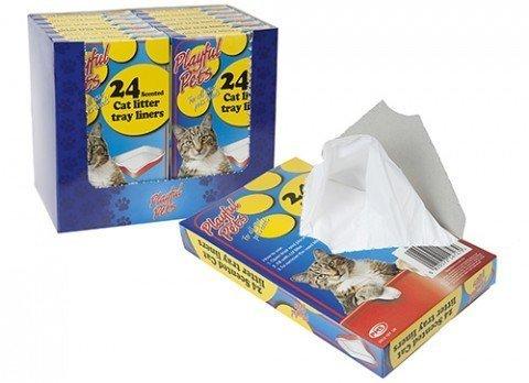 24unidades bandeja para arena de gato, perfumadas desechables bolsas