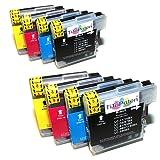 8x Brother DCP 195C Kompatible Druckerpatronen - Cyan / Gelb / Magenta / Schwarz