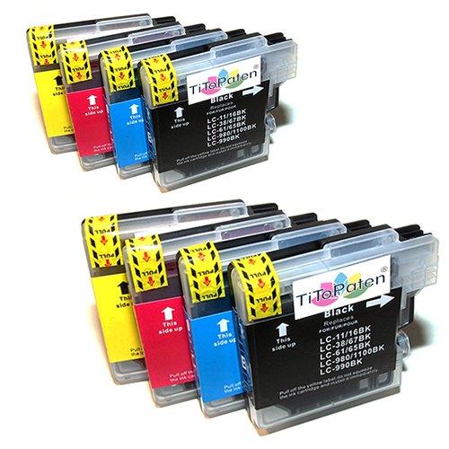 8X Brother DCP 195C Kompatible Druckerpatronen - Cyan/Gelb/Magenta/Schwarz