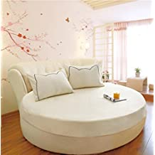 Wmshpeds Cama redonda de algodón de una sola pieza de ropa de cama de algodón ropa