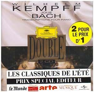 Wilhelm Kempff joue Bach : Transcriptions pour piano (Coffret 2 CD)