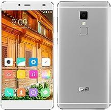 "Elephone S3 - Smartphone libre 4G LTE Android 6 (Pantalla 5.2"", 16GB ROM, 3GB RAM, Octa-Core , Cámara 13.0 Mp, Lector de huellas dactilares, Carga rápida), Plateado"