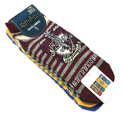 Harry Potter Socks Shoe Liners Trainer Socks 4 Pair Pack Different Designs Size 4-8