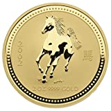 "2 oz Australien 2002 Lunar Serie I ""Year of the Horse"" (Pferd) 2 Unzen 999,9 Goldmünze"