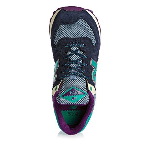 New Balance NBWL574MON Sneaker, Donna Blau