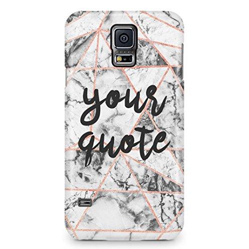 ea49d74aa7508 Marble Personalised Customize Your Custom Quote Text Or Name Coque Housse  Étui De Protection En Plastique Rigide Pour Samsung Galaxy S5 Case Hard ...