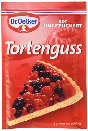 Dr. Oetker Tortenguss Rot ungezuckert, 12er Pack (12 x 3 x 12 g)