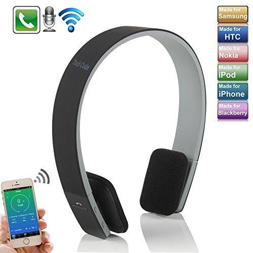iPhone 8 Kopfhörer, TechCode® Over Ear Kabelloser Kopfhörer Bluetooth Einstellbarer Kopf Typ 3.0 Headphone Mit Mikrofon Headset Drahtlos für Apple iPhone X / 8 / 8 Plus / 7/ 7 plus, iPhone 6 / iPhone 6 /6s Plus, iPad / iPod / Sumsang Galaxy S8/S8+, Note 8/ Note 8+, C8, S7/S7 Edge, Tablet PC / Other Bluetooth Smartphone (Schwarz)