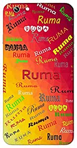 Ruma (Wife A Sugriva) Name & Sign Printed All over customize & Personalized!! Protective back cover for your Smart Phone : Samsung Galaxy On7 2016