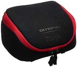 Olympus Tough System Tasche für Kameras-Schwarz mit rotem Rand (202678)