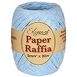 Eleganza 8 mm x 30 m de Ruban en Raphia Papier pour de Nombreux projets manuels et Emballage Cadeau, Lieutenant Bleu N ° 25