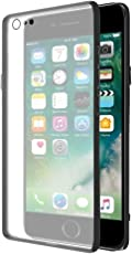 Amazon Brand - Solimo iPhone 8/iPhone 7 Mobile Cover (Hard Back & Black Flexible Bumper), Transparent