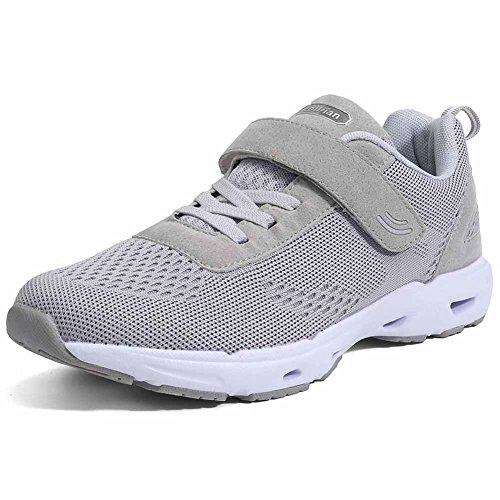 Eagsouni Herren Damen Turnschuhe Laufschuhe Mesh Sneaker Sport Gym Jogging Fitness Schuhe, 38 EU, Grau