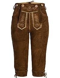 6d4105903db5 Damen Trachten Lederhose Kniebund Lang - Trachtenlederhose in Dunkelbraun,  Hellbraun,…
