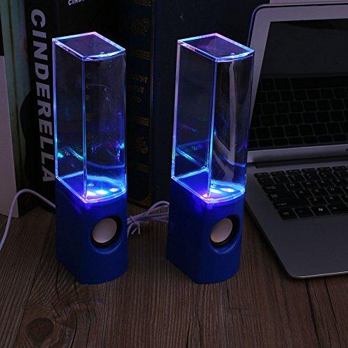 Cewaal LED Tanzen Wasser Licht Lautsprecher Musik Brunnen Für Telefone PC Laptop