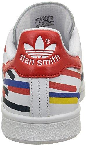 adidas Stan Smith, Scarpe da Corsa Unisex – Adulto Multicolore (Ftwr White/Ftwr White/Red)