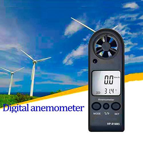 Anemómetro Digital,Portable Medidor de Velocidad del Viento Termómetro con de Luz de Viento Velocidad...