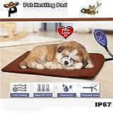 Wokee Elektrisches Heizkissen für Haustiere, Heizkissen für Katzen Pet Heat Pad Elektrische Heizkissen für Katzen und Hunde Wasserdichte Wärmematte (Kaffee)