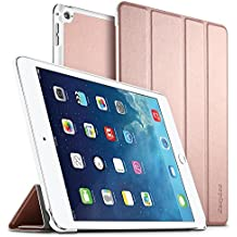 iPad Air 2 Hülle, EasyAcc Ultra Slim Cover Schutzhülle Bumper Lederhülle mit Standfunktion / Auto Sleep Wake Up Funktion für iPad Air 2 2014 Modell Number A1566/ A1567 - Rose&Gold, Ultra Slim