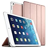EasyAcc Hülle für iPad Air 2, Ultra Slim Cover Schutzhülle PU Lederhülle mit Standfunktion/Auto Sleep Wake Up Funktion Kompatibel für iPad Air 2 2014 Modell Number A1566/A1567 - Roségold