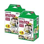 40unidades (2x 20unidades) de cámaras Fujifilm Instax Película para el mini 8, 7S. proporciona un total de 40disparos.
