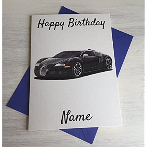Bugatti personalizzato Premium Avorio compleanno scheda