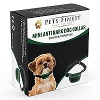 Petit Collier Anti-Aboiement Pets Finest pour Chiens - Collier de Dressage pour Chiens avec Son & Vibration
