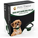Collier Anti-Aboiement Pets Finest pour Chiens – Collier de Dressage pour Chiens avec Son & Vibration (Les petites races de chiens, Noir)