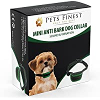 [Gesponsert]Anti-Bell Hundehalsband von Pets Finest, Erziehungshalsband mit Ton- & Vibrationsfunktion (small)