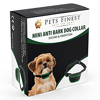 Collier Anti-Aboiement Pets Finest pour Chiens ? Collier de Dressage pour Chiens avec Son & Vibration (Les petites races de chiens, Noir)