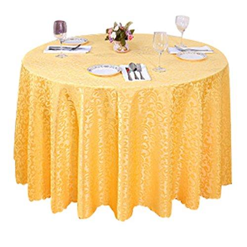 Heheja Rond Rectangulaire Carré Nappe de Table Restaurant fête Satin Nappe Or 160cm