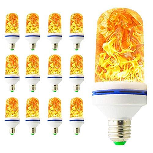 6W Flamme Effekt Glühbirne E27 1400K Leuchtmittel LED Bulb Kreative Lichter Dekorative Leuchte für Hause, Simuliert Gas Hurricane Laterne,Garten, Bar, Party (12 Stück) -