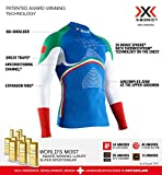 X-Bionic Energy Accumulator 4.0 Patriot Turtle Neck Long Sleeves Italy, Strato Base Camicia Funzionale Uomo, S