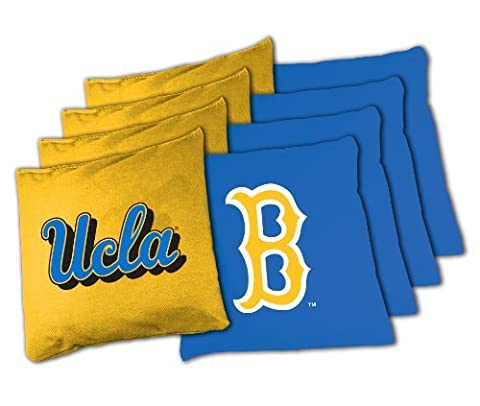 NCAA UCLA Bruins 16oz, Duckcloth Cornhole Bean Bags by Wild Sports
