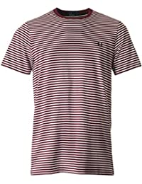 Fred Perry Fine Stripe Tee-Shirt Rosewood, T-Shirt