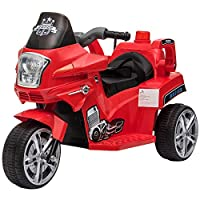 HOMCOM Ride-On Motorcycle Bike Car Rechargeable Battery Forward Lights w/ Seat Belt Two Colors