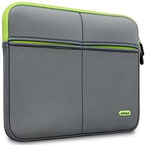 AirCase 14-Inch Laptop Sleeve, Premium, Designer, Suave, 6-MultiUtility Pockets (Grey)