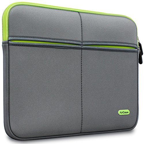 AirCase 15-Inch to 15.6-Inch Laptop Sleeve, Premium, Designer, Suave, 6-MultiUtility Pockets (Grey)